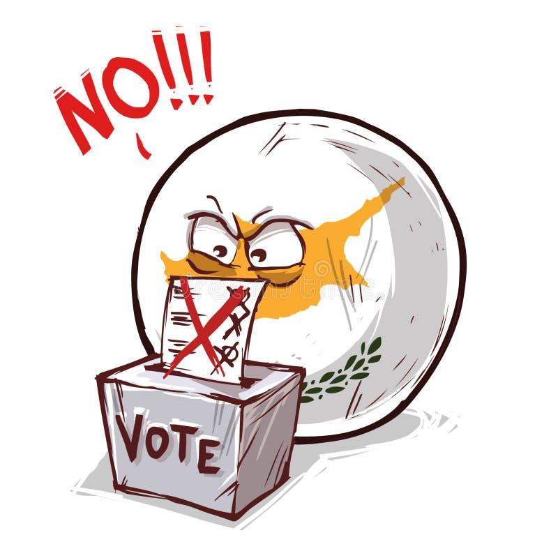 投反对票的塞浦路斯 库存例证