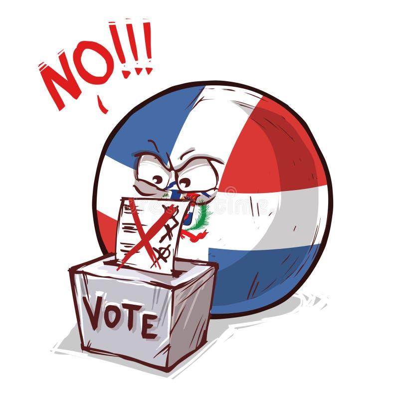 投反对票的多米尼加共和国 皇族释放例证
