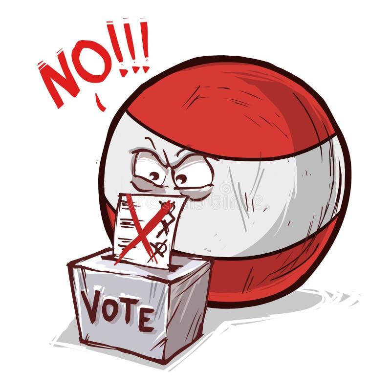 投反对票的奥地利 库存例证
