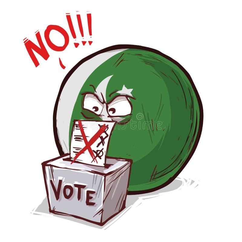 投反对票的巴基斯坦 向量例证