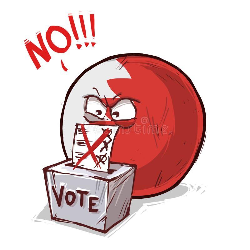 投反对票的巴林 皇族释放例证