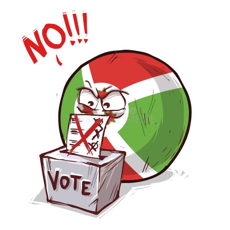 投反对票的布隆迪 皇族释放例证