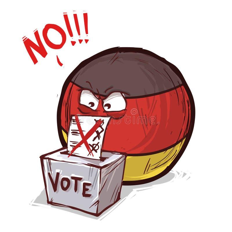 投反对票的德国 向量例证