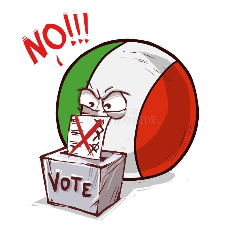 投反对票的意大利 皇族释放例证