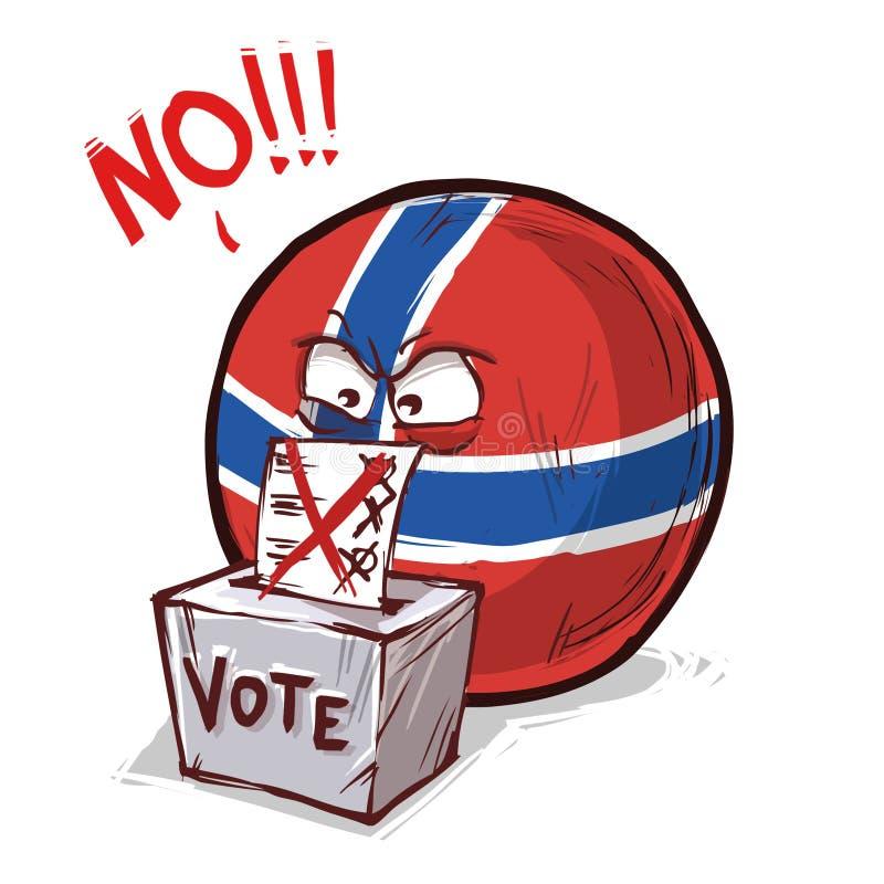 投反对票的挪威 向量例证
