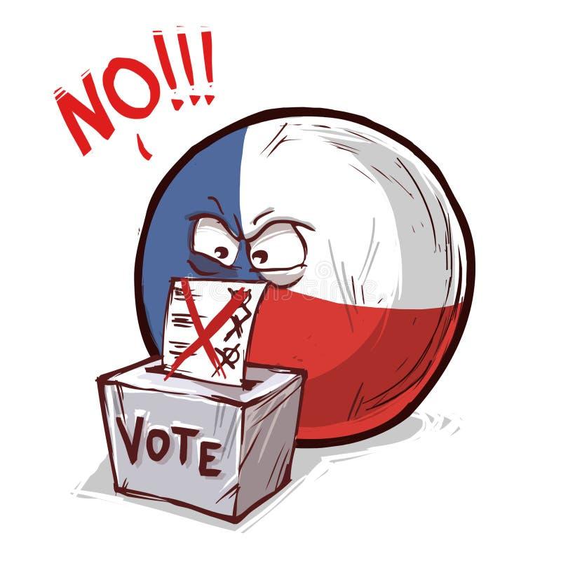 投反对票的捷克共和国 库存例证