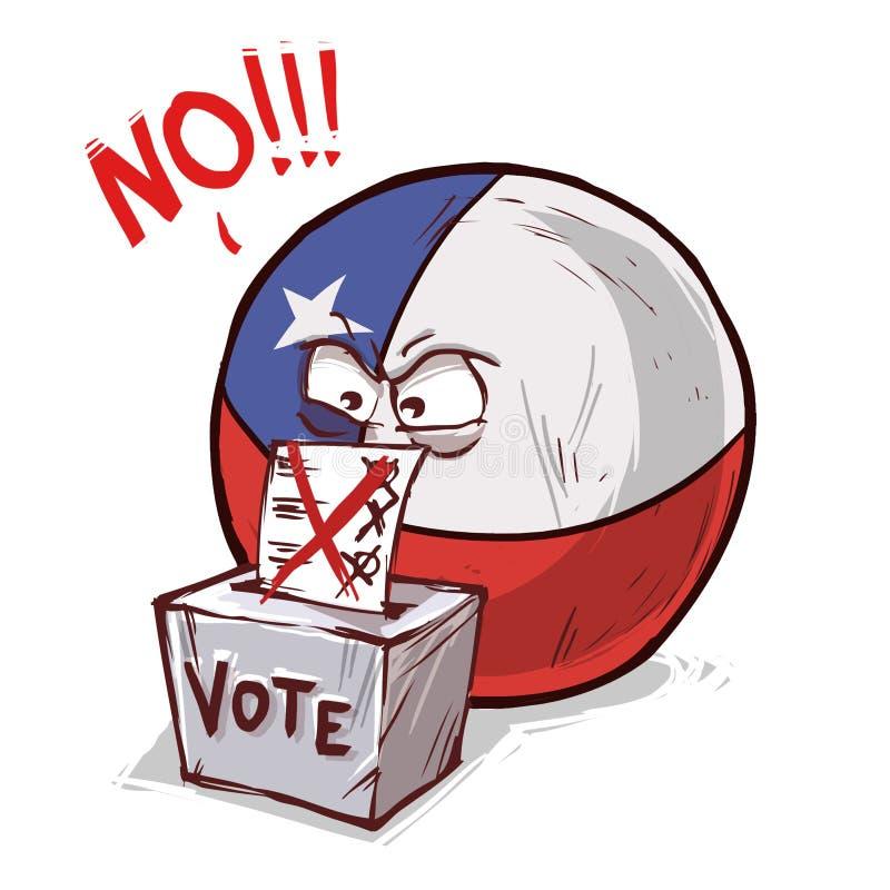 投反对票的智利 库存例证