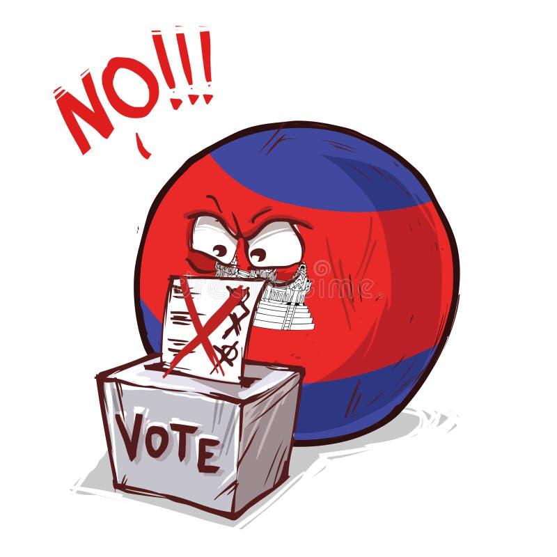 投反对票的柬埔寨 库存例证