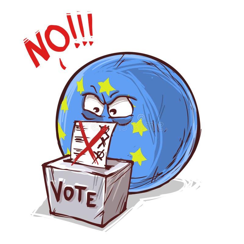 投反对票的欧洲 库存例证