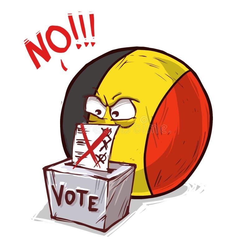 投反对票的比利时 皇族释放例证