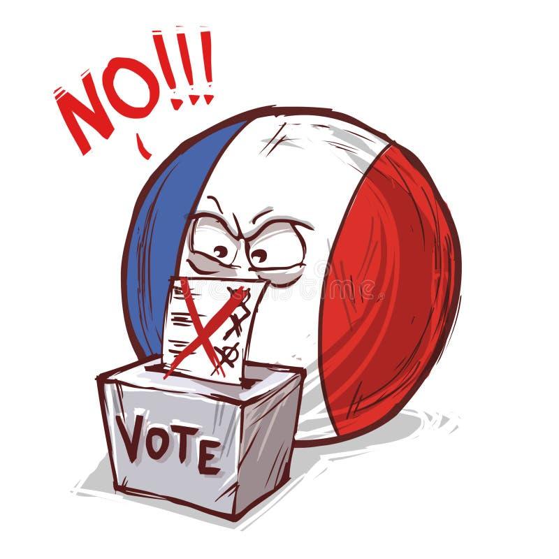 投反对票的法国 皇族释放例证