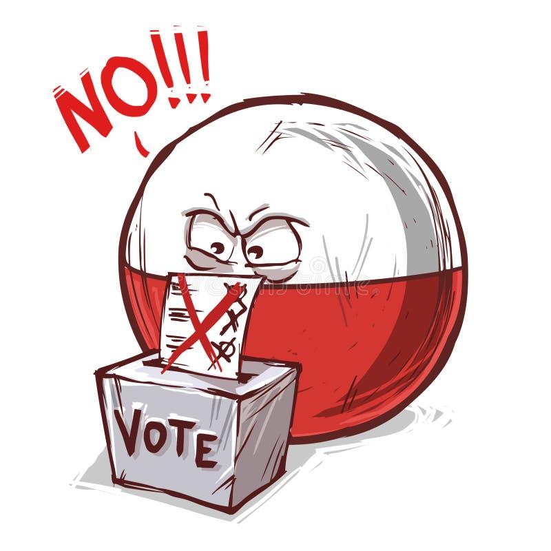 投反对票的波兰 皇族释放例证