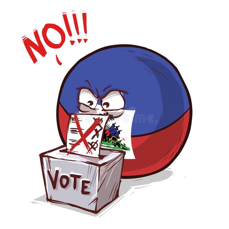 投反对票的海地 皇族释放例证