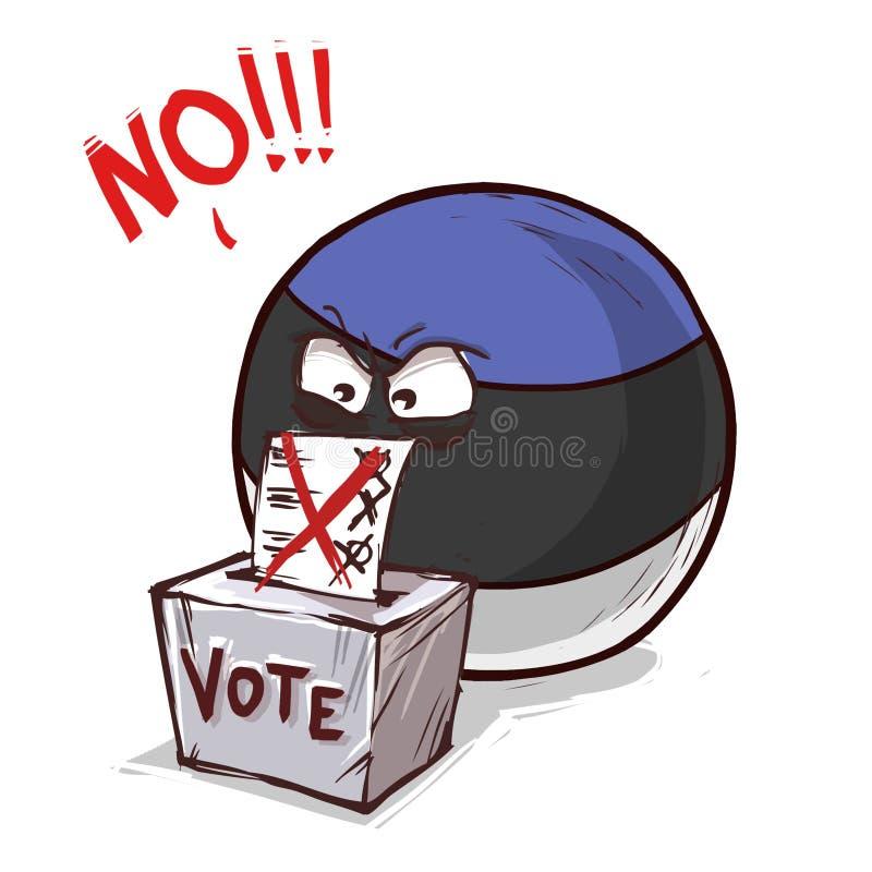 投反对票的爱沙尼亚 向量例证