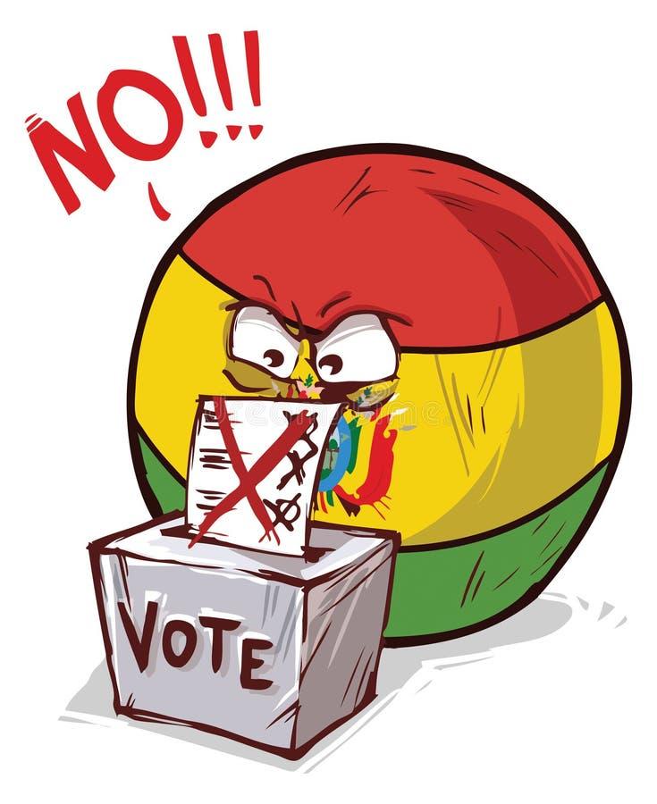 投反对票的玻利维亚 库存例证