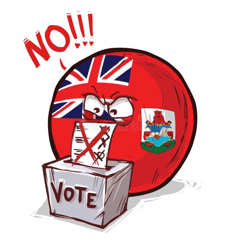 投反对票的百慕大群岛 库存例证