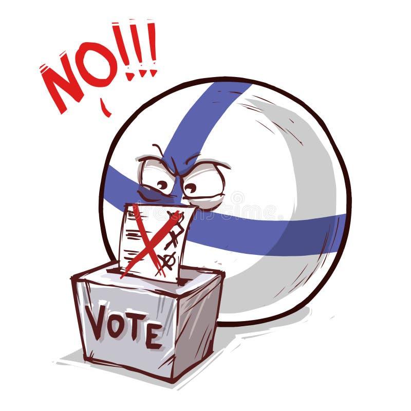 投反对票的芬兰 向量例证