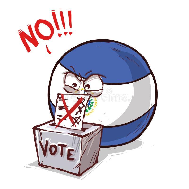 投反对票的萨尔瓦多 库存例证