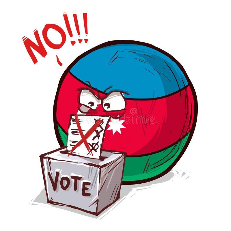 投反对票的阿塞拜疆 向量例证