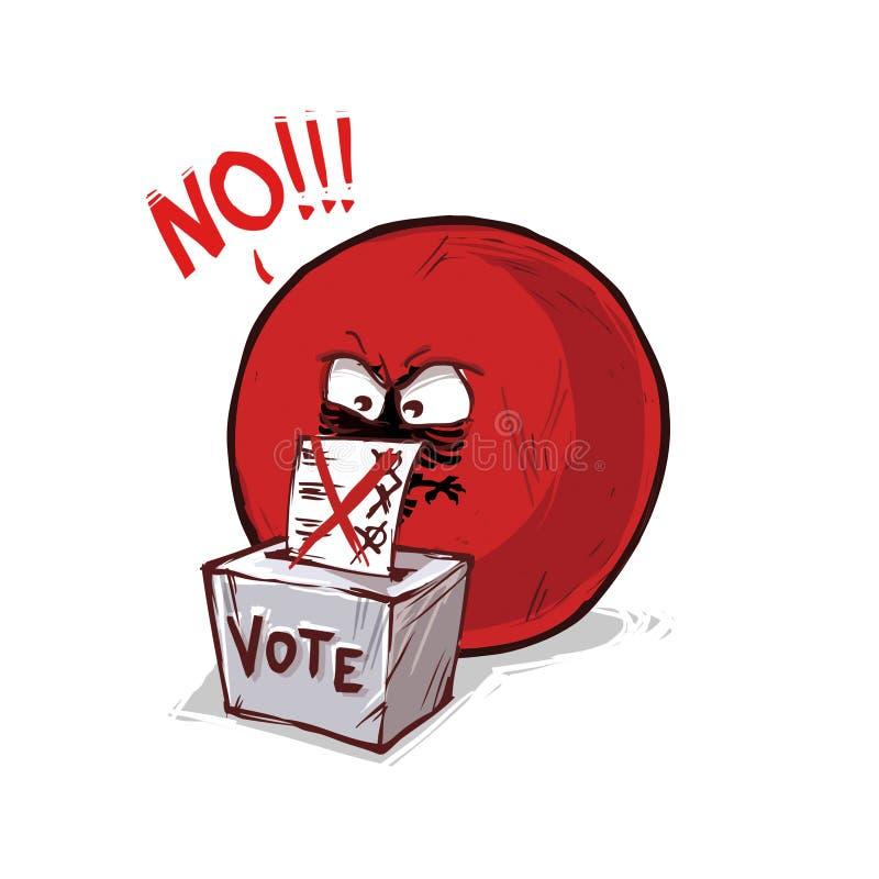 投反对票的阿尔巴尼亚 向量例证