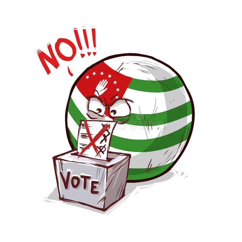 投反对票的阿布哈兹 皇族释放例证