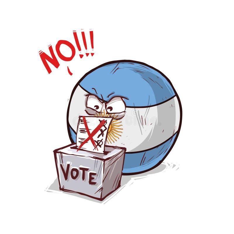 投反对票的阿根廷 向量例证