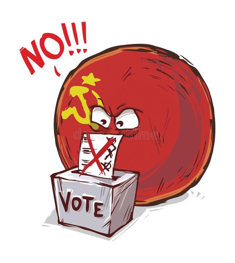 投反对票苏联的国家 库存例证