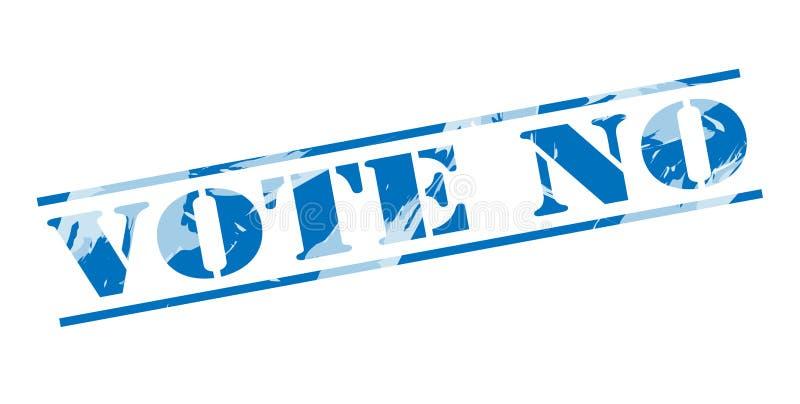 投反对票蓝色邮票 皇族释放例证