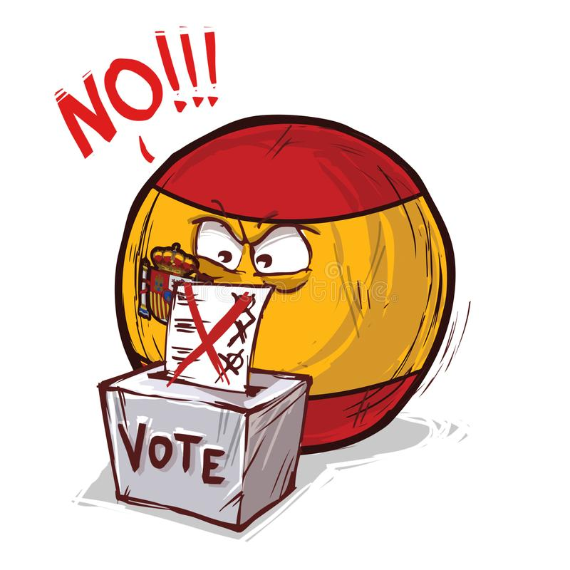 投反对票西班牙的国家 库存例证