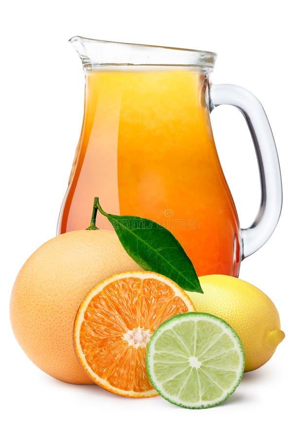 投手多果子柑橘汁 免版税库存图片