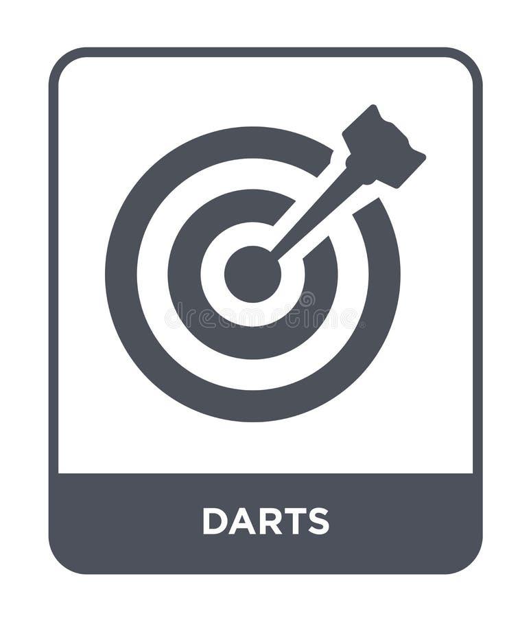 投掷在时髦设计样式的象 在白色背景隔绝的箭象 箭传染媒介象简单和现代平的标志为 库存例证