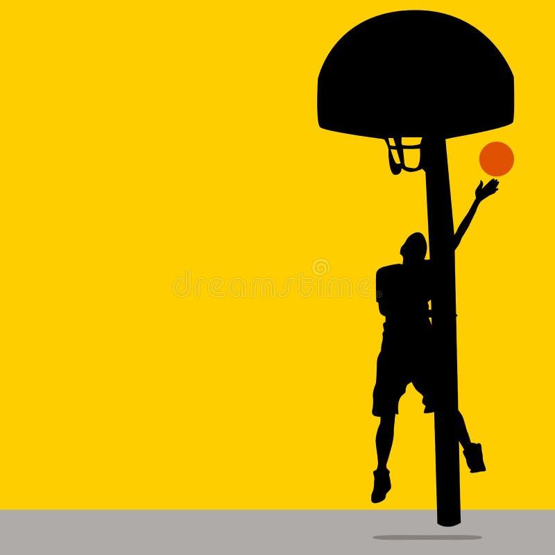 投掷的篮球 向量例证