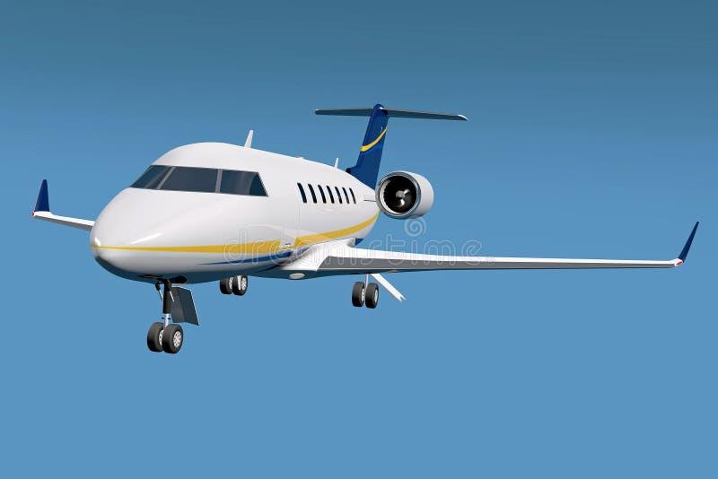 投炸弹者挑战者600私人喷气式飞机 库存例证