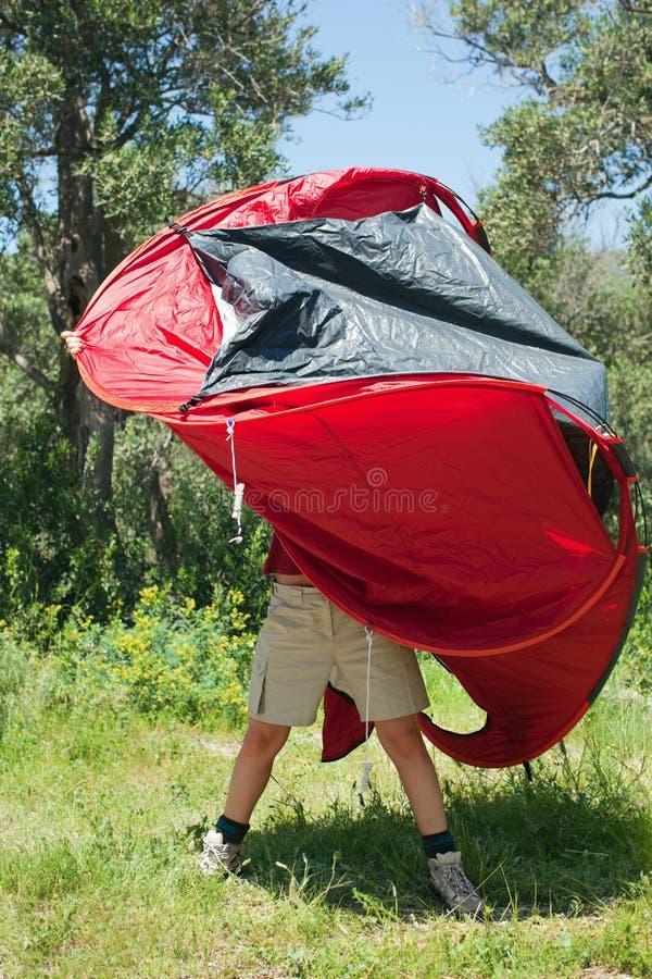 投球帐篷妇女 免版税库存图片