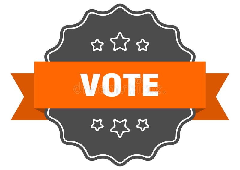 投票标签 库存例证