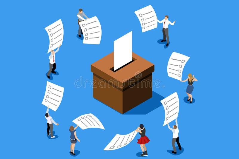 投票的挑选表决概念投票箱传染媒介 向量例证