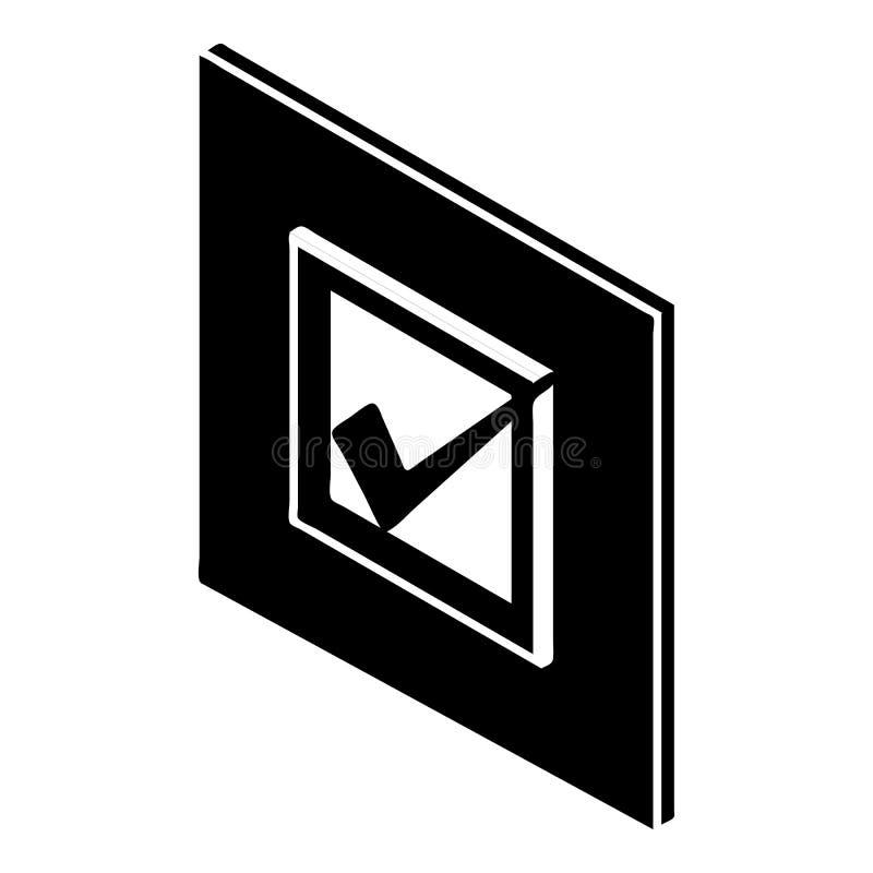 投票的标志象,简单的样式 皇族释放例证
