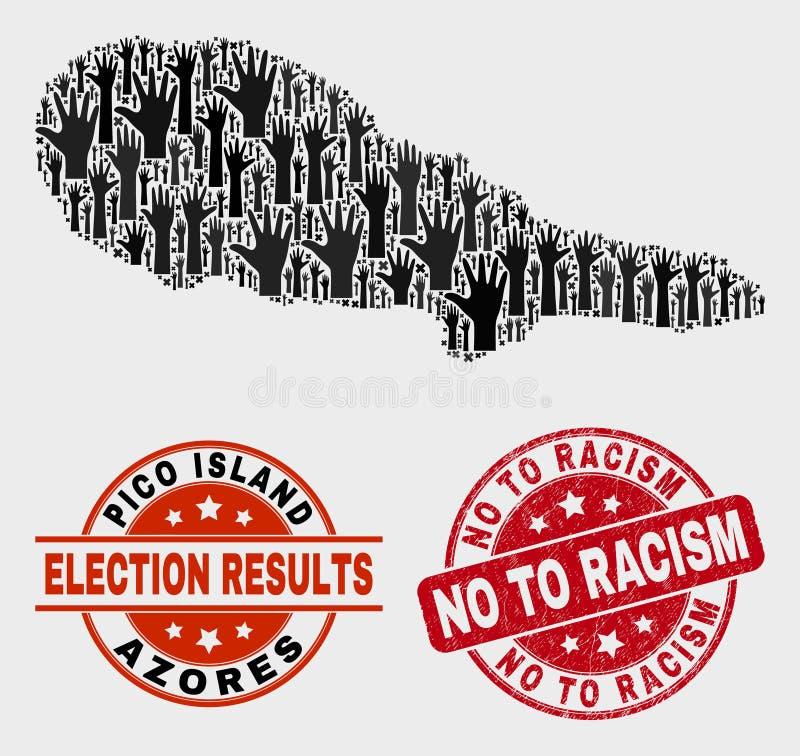 投票皮库岛海岛地图的构成和困厄不到种族主义封印 皇族释放例证