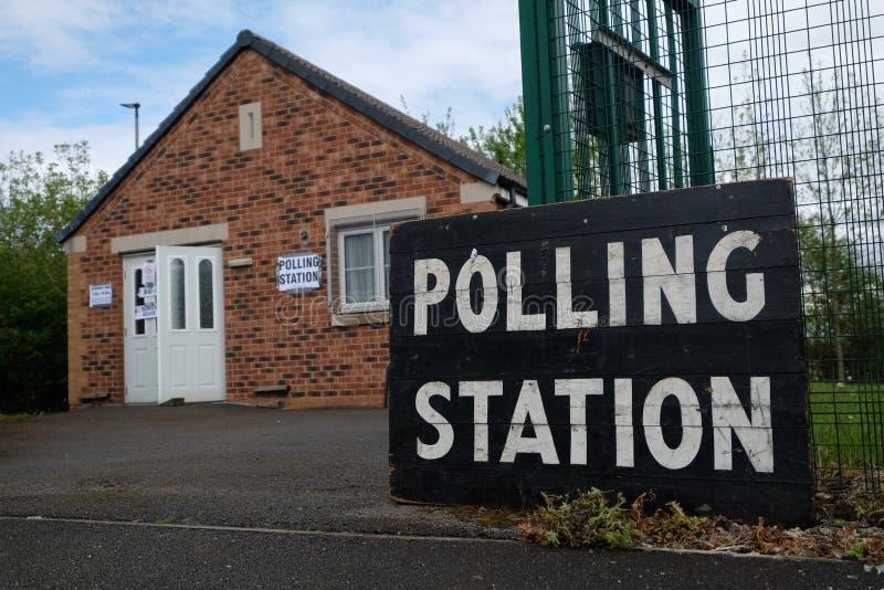 投票站在英国 库存照片