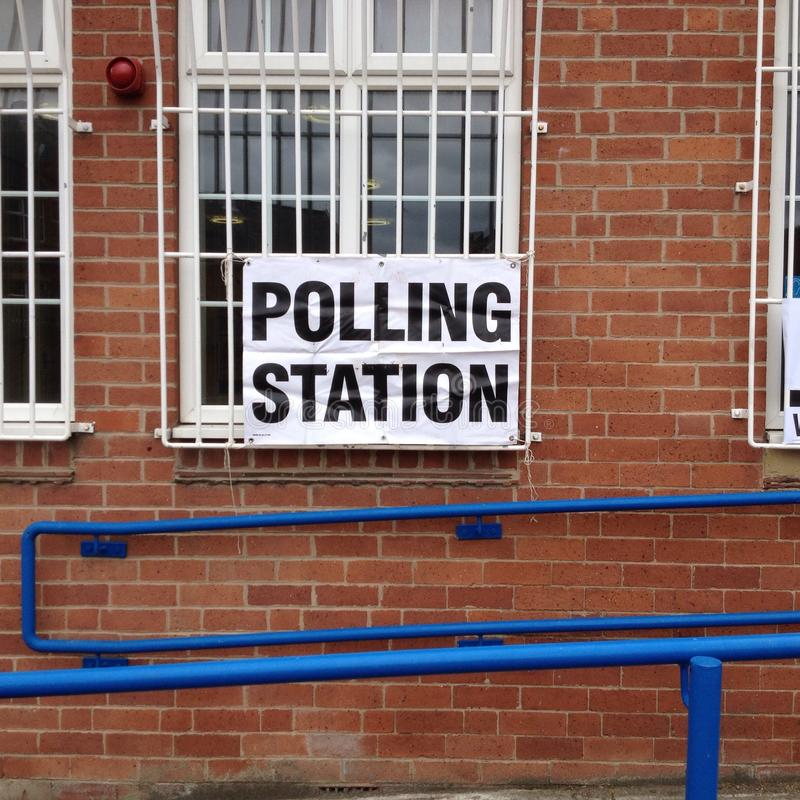 投票站英国 免版税图库摄影