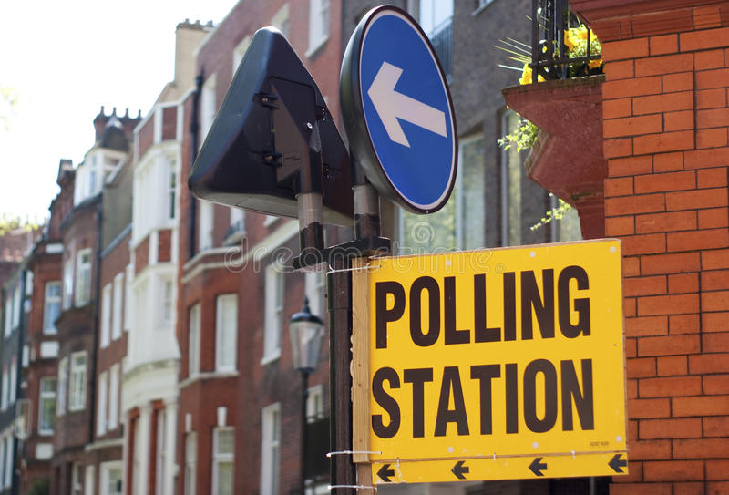 投票站 免版税库存图片