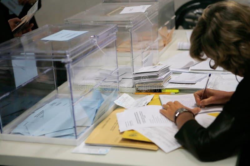 投票站012 库存照片