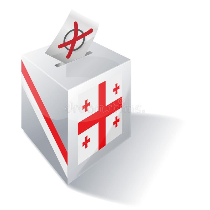 投票箱乔治亚 皇族释放例证