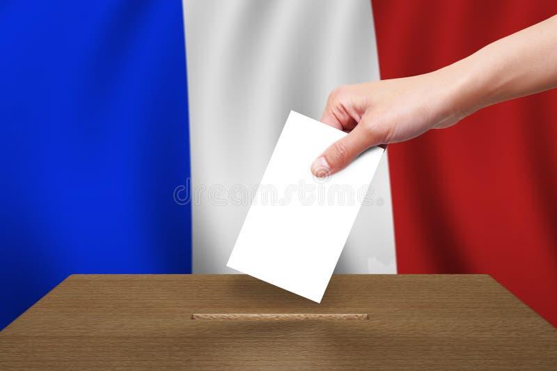 投票箱标志木法国的现有量 库存图片