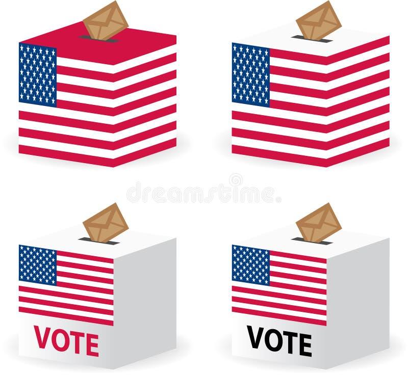 投票箱轮询状态团结的表决 皇族释放例证