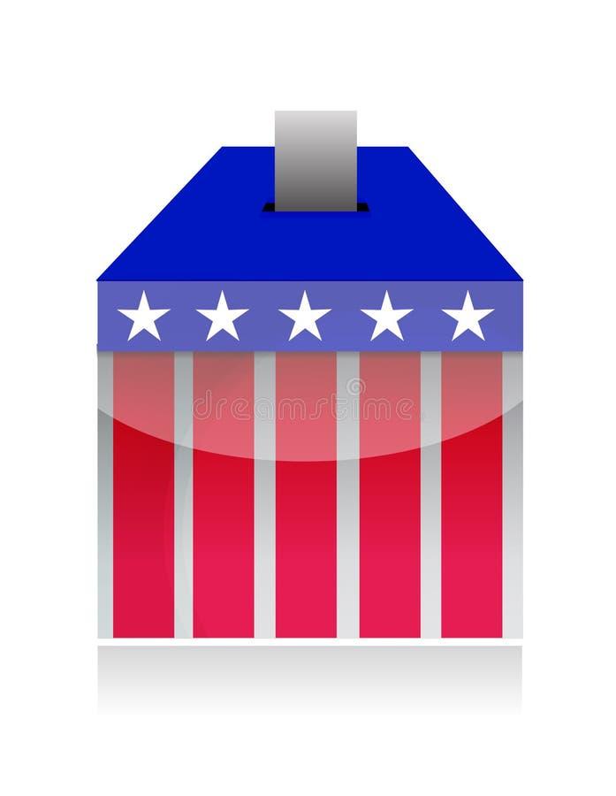 投票箱轮询表决 库存例证