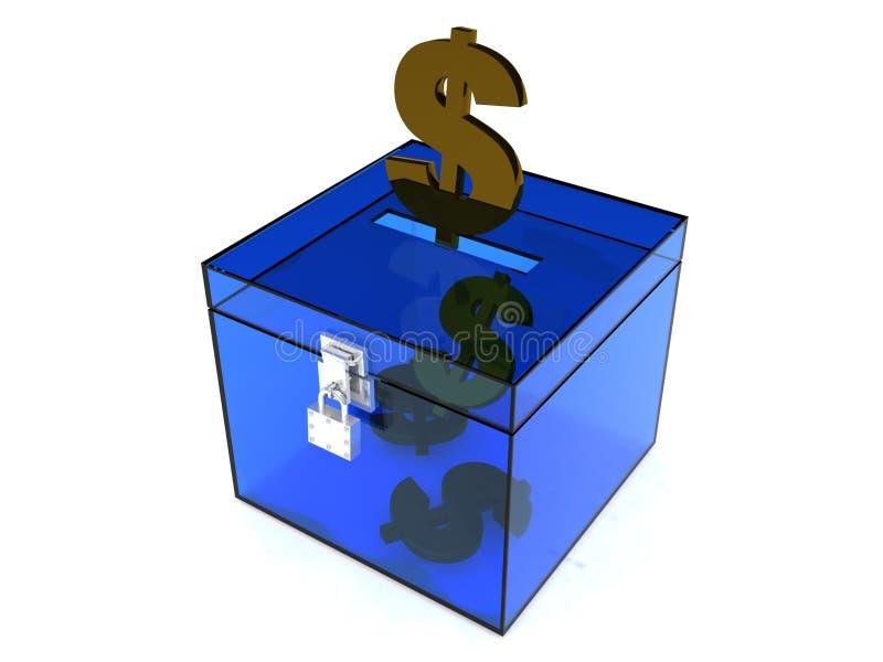 投票箱 皇族释放例证