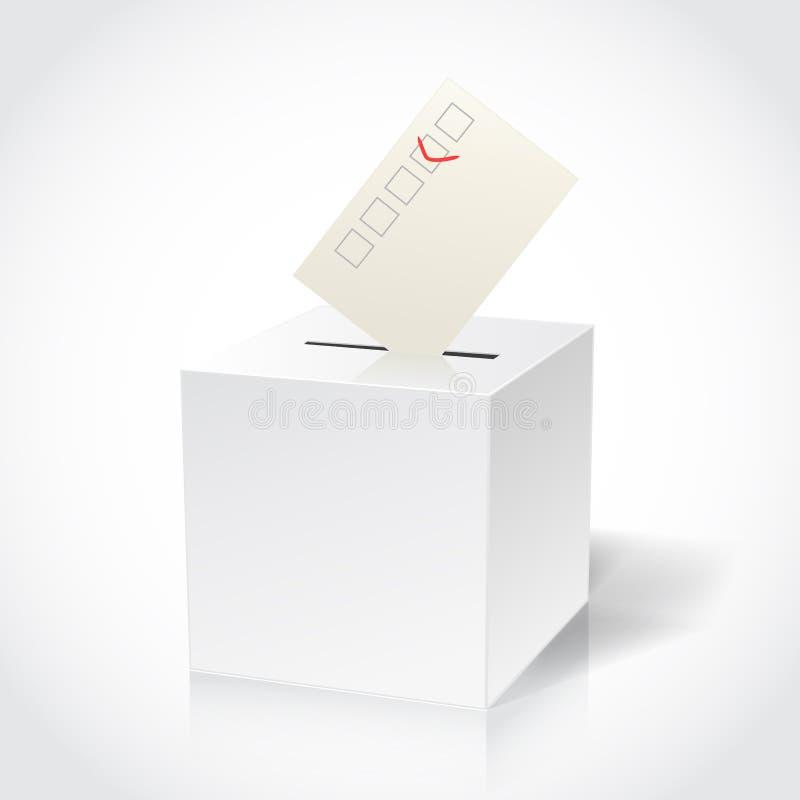 投票箱 向量例证