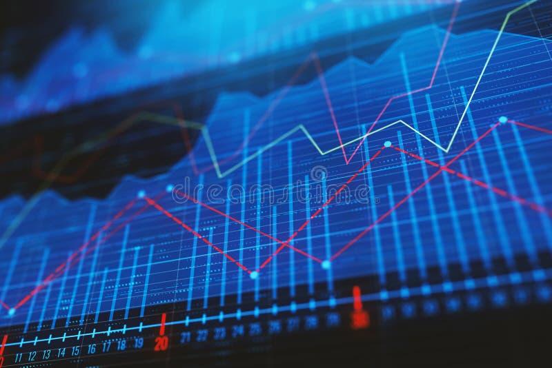 投资、贸易和财务概念 皇族释放例证