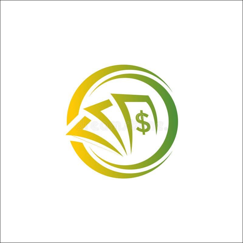 投资与圈子摘要的金钱商标 皇族释放例证